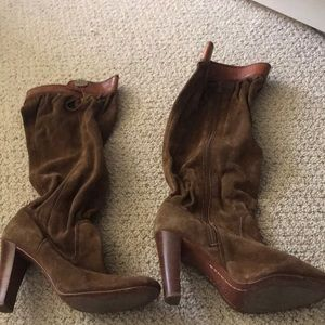 Michael Kors size 8 camel slouch boots